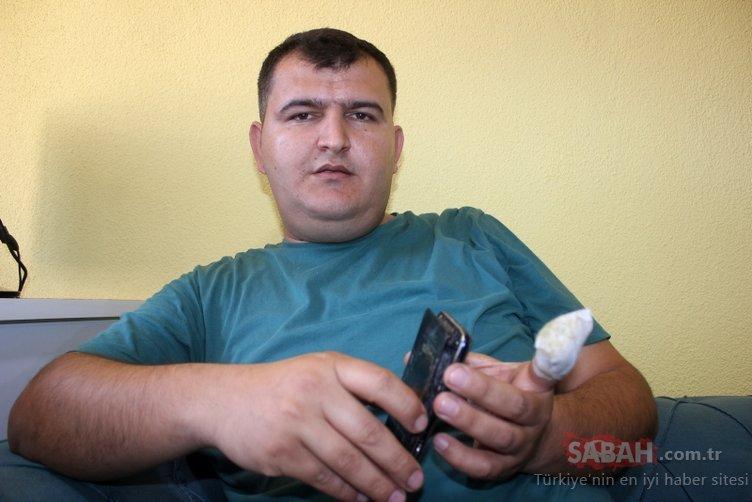 Cebindeki telefonun bataryası patlayan sürücü yaralandı