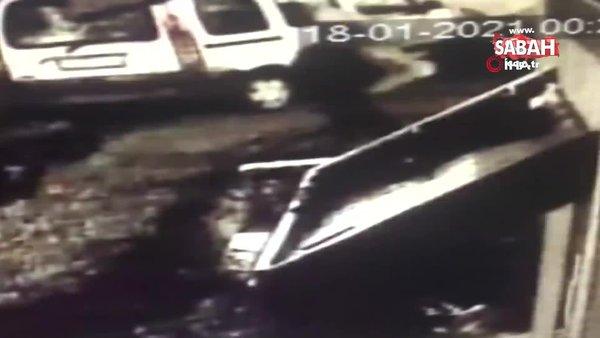 İstanbul'da akıllara durgunluk veren hırsızlık! Kardan adamın çalınma anı kamerada | Video