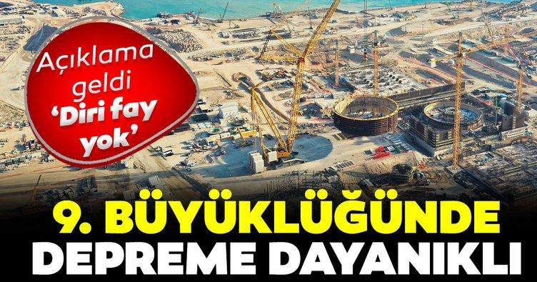 Akkuyu NGS için deprem açıklaması: Diri fay yok! 9.0 şiddetine kadar dayanıklı