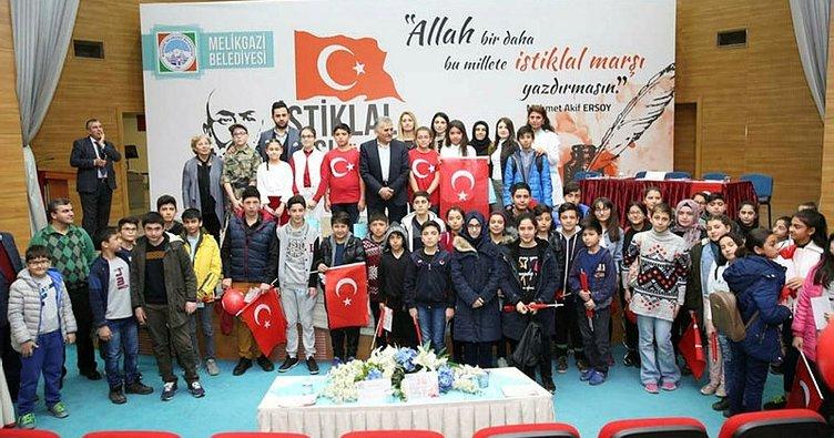 Melikgazi'de İstiklal Marşını güzel okuma yarışması düzenlendi