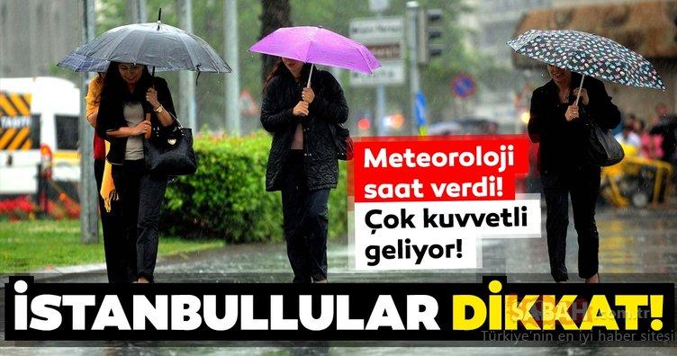 Meteoroloji'den İstanbul ve birçok il için son dakika hava durumu ve sağanak yağış uyarısı geldi! Dışarı çıkmadan önce dikkat!