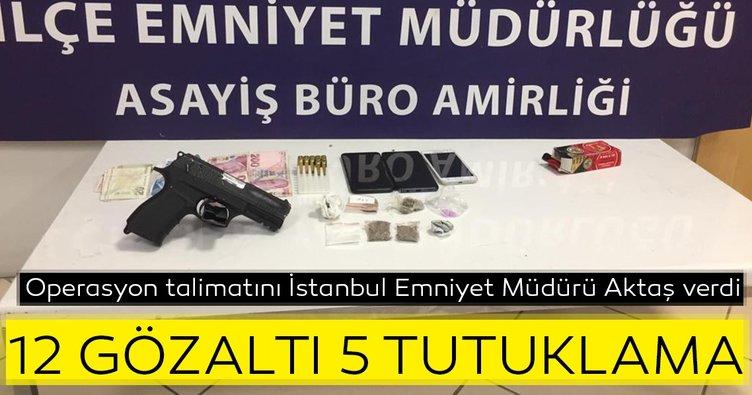 İstanbul'un 5 ilçesinde uyuşturucu operasyonu! 12 gözaltı, 5 tutuklama