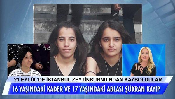 Müge Anlı İstanbul'da kaybolan 16 ve 17 yaşındaki kız kardeşlerin bulunduğunu canlı yayında açıkladı | Video