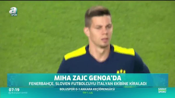 Miha Zajc Genoa'da