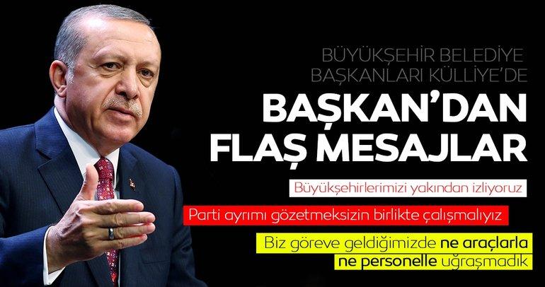 Son dakika haberi: Başkan Erdoğan Büyükşehir Belediye Başkanlarına hitap etti