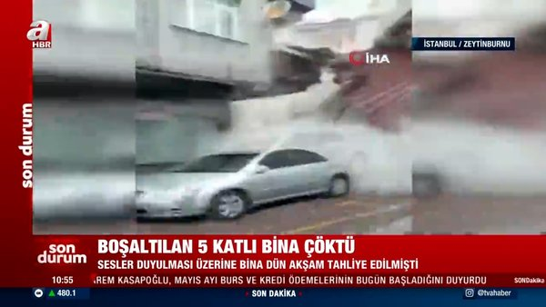 SON DAKİKA: İstanbul Zeytinburnu'ndaki binanın çökme anı görüntüleri ortaya çıktı! Dehşet anları kamerada