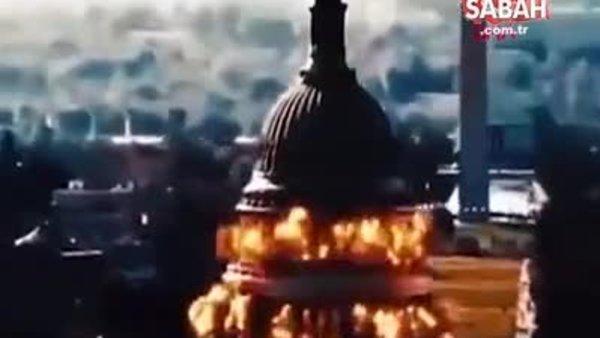 İran'ın propaganda videosunda ABD Kongre Binası havaya uçuruldu | Video