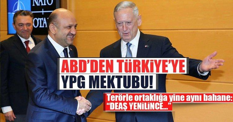 Son dakika: ABD'den Türkiye'ye YPG mektubu