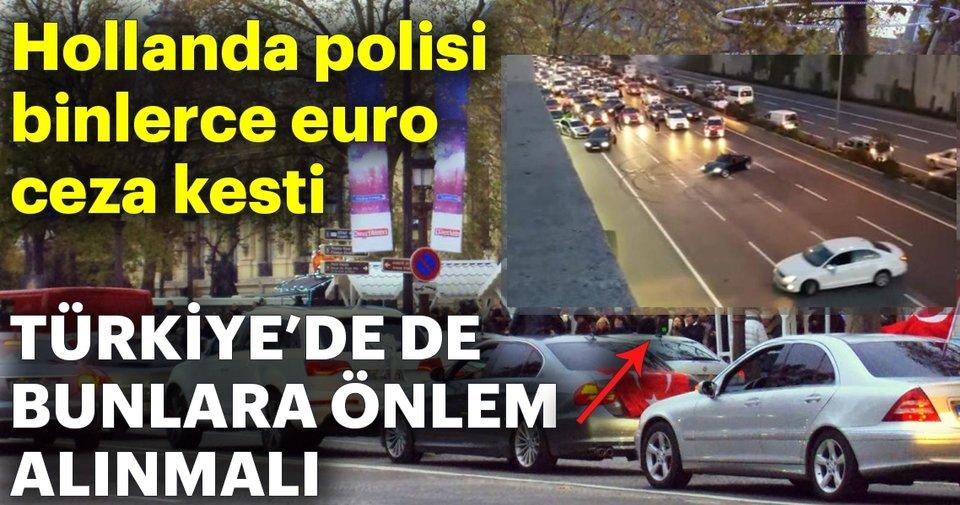 Hollandada Türkiye usulü düğün konvoyuna binlerce euro ceza 91