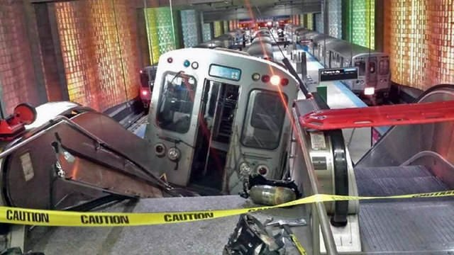 ABD'de inanılmaz tren kazası