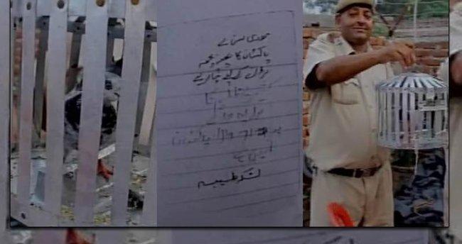 Başbakana tehdit mektubu taşıyan güvercin tutuklandı