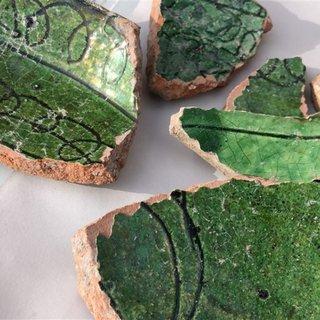 Kars'ta seramik parçaları bulundu