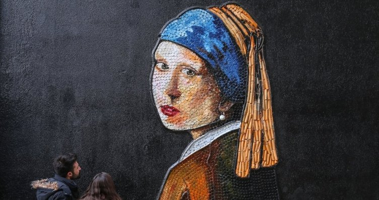 Çöplerin dönüştüğü muhteşem sanat sokağı