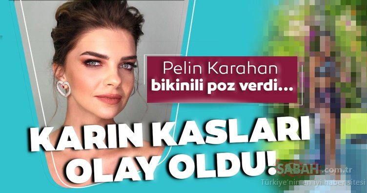 Pelin Karahan bikinili poz verdi karın kasları olay oldu! İşte güzelliğiyle mest eden Pelin Karahan'ın bikinili pozu...