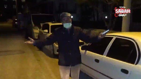 Sokakta polise yakalanınca 'Virüsüm yok kendimi vururum' dedi! | Video