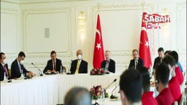 Başkan Erdoğan, Anadolu Efes'i kabul etti   Video
