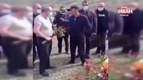 Dağlık Karabağ'da ölen askerin mezarına çiçek bırakmak isteyen Paşinyan'a tepki