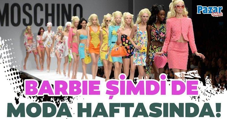Barbie şimdi de moda haftasında