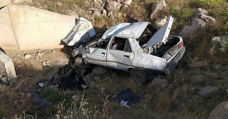 Aksaray'da otomobil şarampole yuvarlandı: 1 ölü