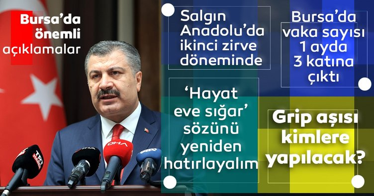 Son dakika haberi: Sağlık Bakanı Fahrettin Koca: Salgın Anadolu'da ikinci zirve dönemini yaşıyor