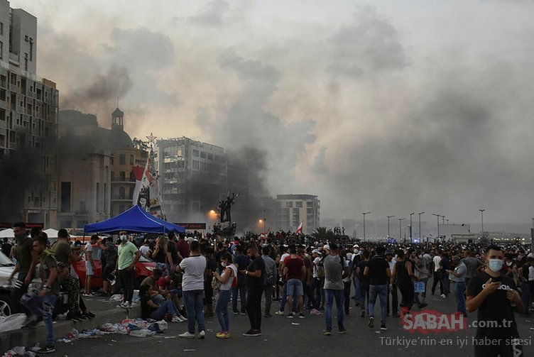 Beyrut'taki protestolar sırasında 1 polis öldü, yüzlerce yaralı var
