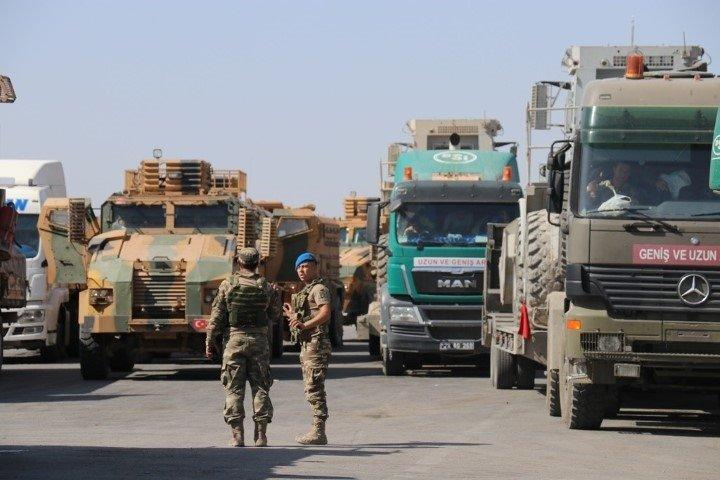 Barış Pınarı Harekatı'na Fırat'ın batısından destek! Köprü kurmak için iş makineleri yola çıktı