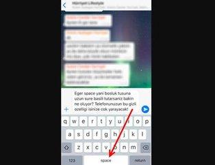 WhatsApp'ta 'boşluk tuşuna' uzun süre basılı tutarsanız... WhatsApp'ta bunu hemen deneyeceksiniz!