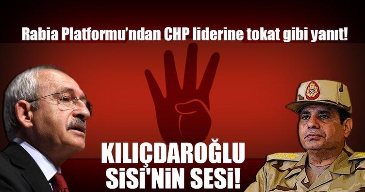Kılıçdaroğlu Sisi'nin sesi!