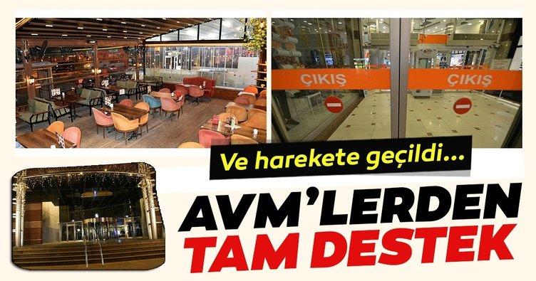 AVM'lerden restoranlara tam destek