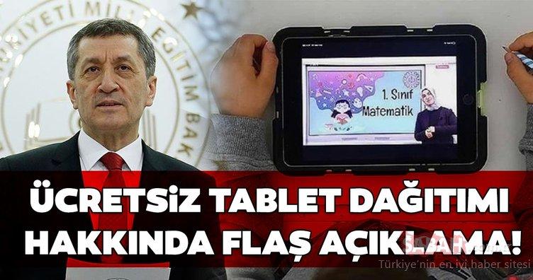 SON DAKİKA: Ziya Selçuk'tan 500 bin ücretsiz tablet bilgisayar dağıtımı açıklaması! MEB bedava tablet dağıtımı başvurusu nasıl yapılır?