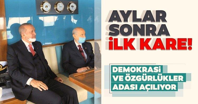 Başkan Erdoğan ve Devlet Bahçeli Yassıada'ya gitti! Demokrasi ve Özgürlükler Adası bugün açılıyor