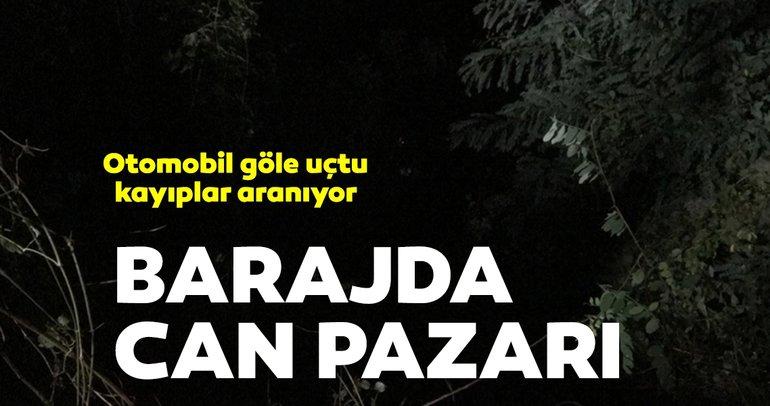 Bartın'da araç baraja uçtu: 5 kişiden 4'ü kayıp