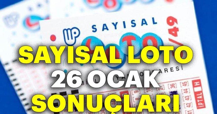 Son dakika haberi: Sayısal Loto çekiliş sonuçları açıklanıyor! Milli Piyango Sayısal Loto 26 Ocak bilet sorgulama