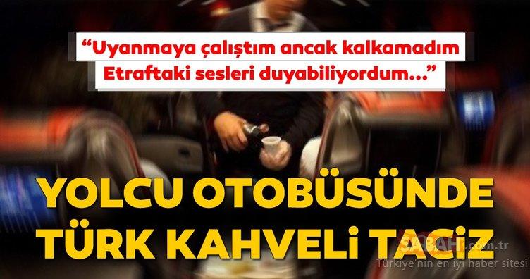 Son Dakika: Otobüste kadın yolcuya dehşeti yaşattı! Türk kahvesi içtiği sırada...
