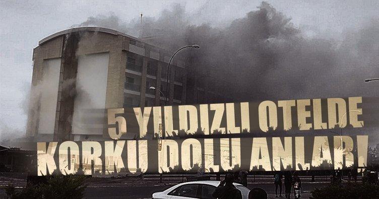 Ordu'da 7 katlı otelde yangın!