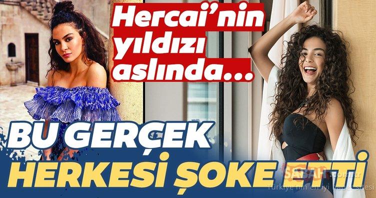 Hercai dizisiyle yıldızı parlayan Ebru Şahin...