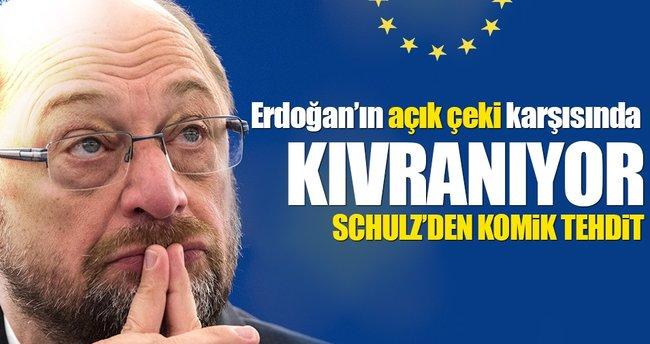 AP Başkanı Schulz'den komik tehdit