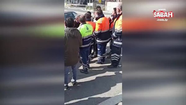 İBB ile Maltepe Belediyesi işçileri birbirine girdi… Çöp kavgası kamerada | Video