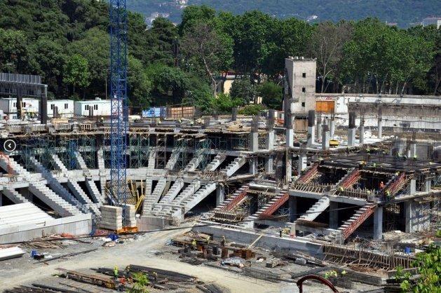 İşte Vodafone Arena inşaatında son durum