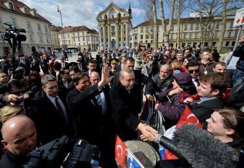 Cumhurbaşkanı Erdoğan, Slovenya'da resmi törenle karşılandı