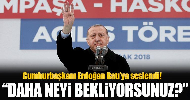 Erdoğan: Islanmak istemiyorsanız yağmurun altında durmayacaksınız