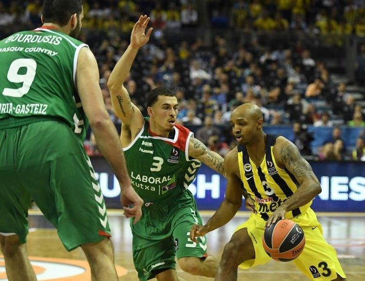 Fenerbahçe-Laboral Kutxa maçından kareler