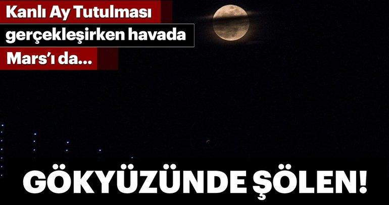 Kanlı Ay Tutulması'na bakarken Mars'ı da...