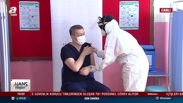 SON DAKİKA: Milli Eğitim Bakanı Selçuk canlı yayında koronavirüs aşısı oldu | Video