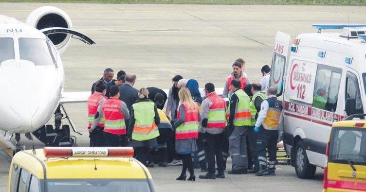 Ambulans uçak alarmı