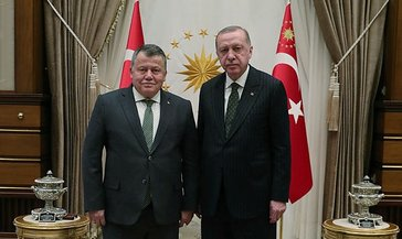 Yargıtay Başkanı Cirit'ten Cumhurbaşkanı Erdoğan'a veda ziyareti