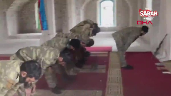 Ermenistan işgalinden kurtarılan Şuşa'da 28 yıl aradan sonra Cuma namazı kılındı