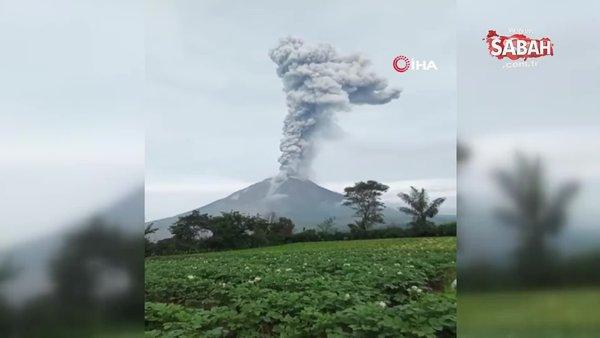 Endonezya'daki Sinabung Yanardağı duman ve kül püskürttü   Video