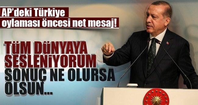 Cumhurbaşkanı Erdoğan: Oylamanın bizim açımızdan bir kıymeti yoktur