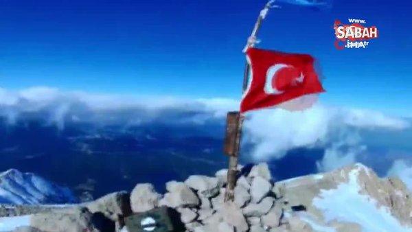Isparta'da 2 bin 998 metrelik Dedegöl dağı zirvesine solo tırmanışı yaptı | Video